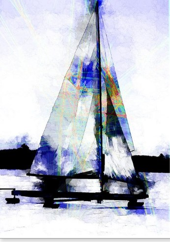 Scott Smith Art Print Stern Steerer Iceboat