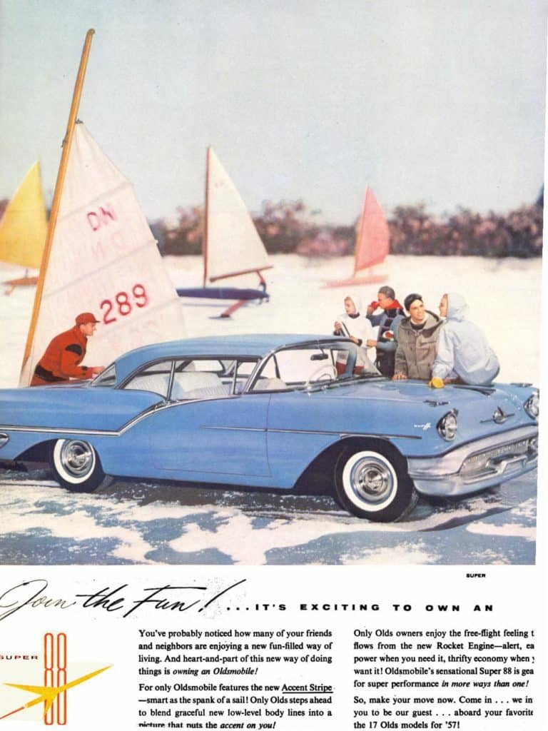 Oldsmobile DN Iceboat Ad