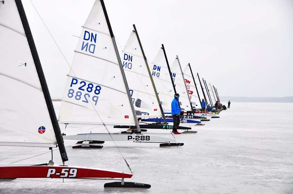 Junior World Ice Sailing Championship: Day 1